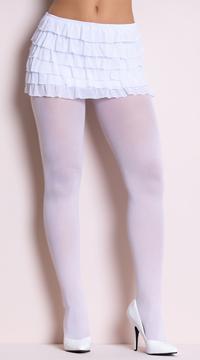 Nylon Tights - White