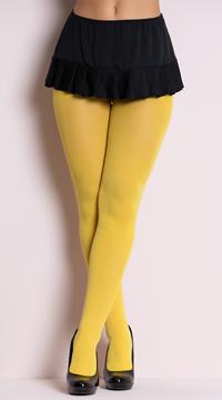Nylon Tights - Yellow