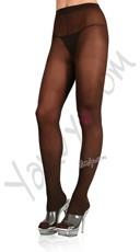 Plus Size Nylon Spandex Tights - Black
