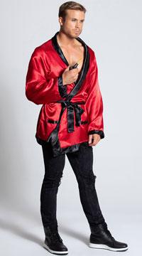 Hugh Hefner Costume - Burgundy/Black