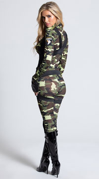 Pretty Paratrooper Costume - Camouflage