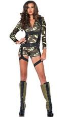 Commando Cutie Costume - Camouflage