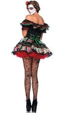 Plus Size Dia De Los Beauty Costume - Black/Multi
