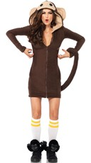 Fleece Monkey Costume - Brown
