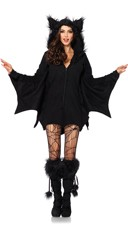 Fleece Bat Costume - Black