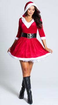 Santa Baby Velvet Holiday Dress - as shown