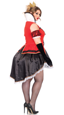Plus Size Royally Sexy Queen Costume - Red/Black