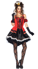 Royally Sexy Queen Costume - Red/Black