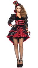Victorian Vamp Costume - Black/Burgundy