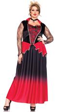 Plus Size Bitten Beauty Vampire Costume - Black/Red
