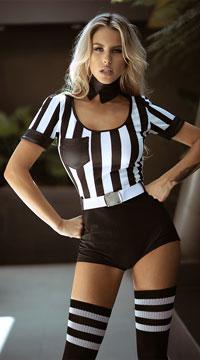 No Rules Referee Costume - Black/White