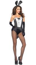 Sexy Classic Bunny Costume - Black/White