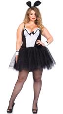 Plus Size Bunny Tux Costume - Black/White