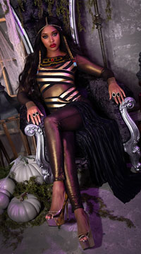 Goddess Isis Costume - Black/Gold