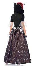 Wonderland Chess Queen Costume - Black/White