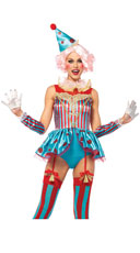 Colorful Circus Clown Costume
