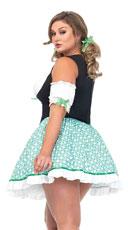 Plus Size Clover O'cutie Costume - Multicolor