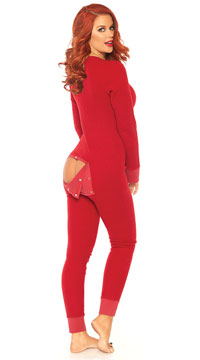 Love Me Long Johns Jumpsuit - Red