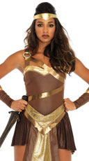 Golden Gladiator Costume - Brown