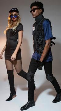 Mens SWAT Team Costume - as shown
