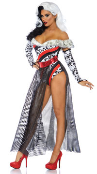 Dalmatian Dame Costume - Multi