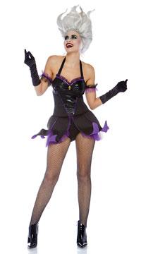 Sea Witch Costume - Black/Purple