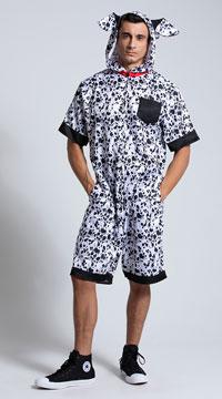 Men's Dalmatian Dog Costume - Black/White