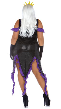 Plus Size Sultry Sea Witch Costume - Black/Purple