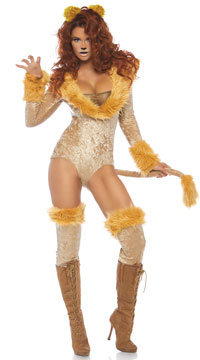 Lovely Lioness Costume - Brown