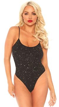 Show Me Some Shimmer Bodysuit - Black/Gold