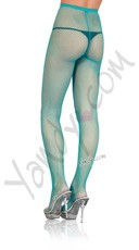 Nylon Fishnet Pantyhose - Neon Blue