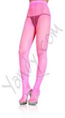 Nylon Fishnet Pantyhose - Neon Pink