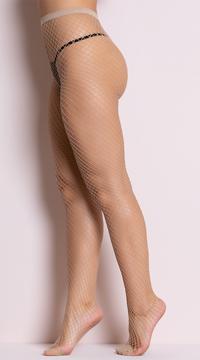 Fence Net Pantyhose - Nude