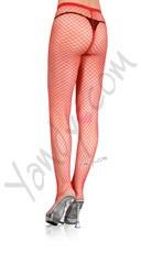 Plus Size Net Pantyhose - Red