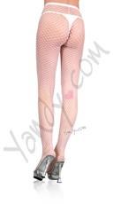 Plus Size Net Pantyhose - White