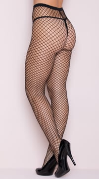 Fence Net Pantyhose - Black