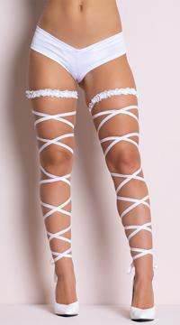 Garter Leg Wraps - White