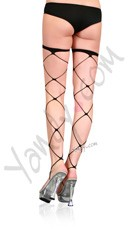 Jumbo Net Thigh Highs - Black