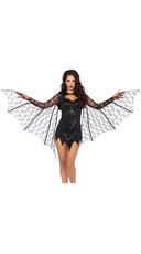 Lace Bat Wing Shrug - Black
