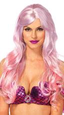 Ombre Mermaid Wig - Pink