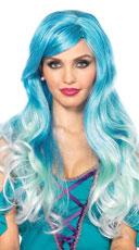 Ombre Mermaid Wig - Blue