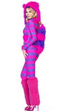 Yandy Miss Cheshire Costume - Hot Pink/Purple