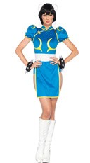 Street Fighter Chun-Li Costume - Blue