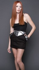 Mirror Image Skirt - Black/Silver