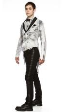 Plus Size Til Death Do Us Part Groom Costume - White