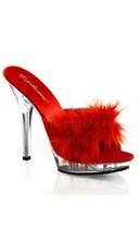 Marabou Slide Platform Sandal with 5