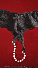 Low-Rise Pearl Panty - Black