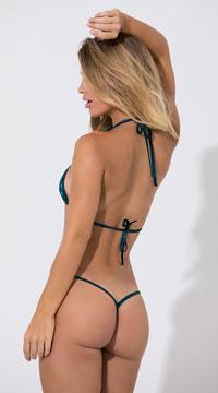 Basic Sequin G-String - Mermaid/Black