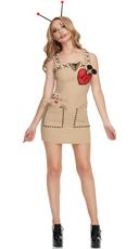 Seductive Voodoo Doll Costume - Brown