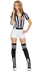 Scandalous Referee Costume - Black/White